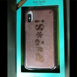 New Kate Spade Pink iPhone X Case